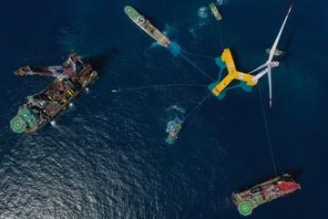 全球首台抗台风型漂浮式海上风电机组落户广东阳江