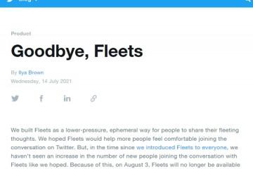 Twitter定于8月3日正式关闭阅后即焚的Fleet功能